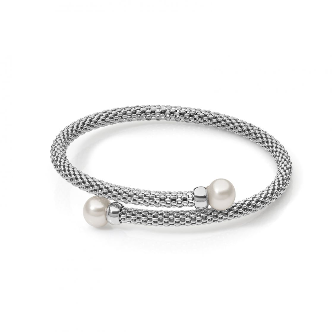 CUFF BANGLE WITH PEARLS