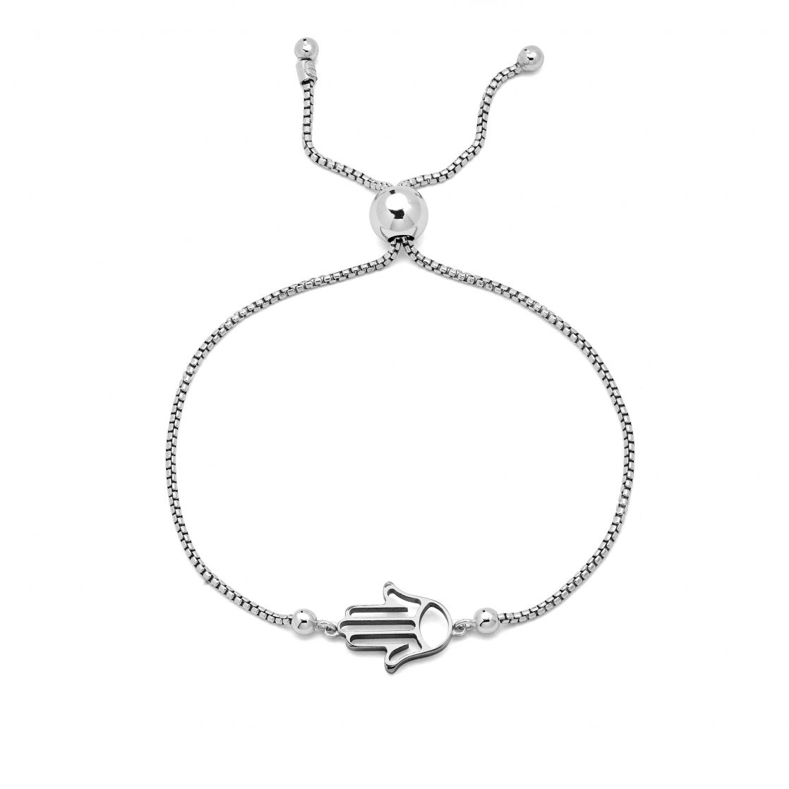 Sliding bracelet with hamnsa
