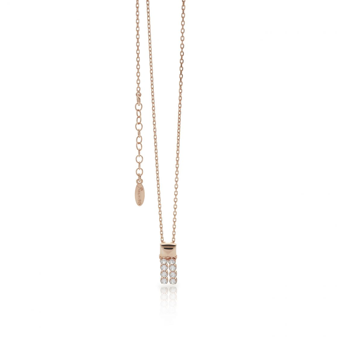 ROCK NECKLACE WITH LITTLE CZ
