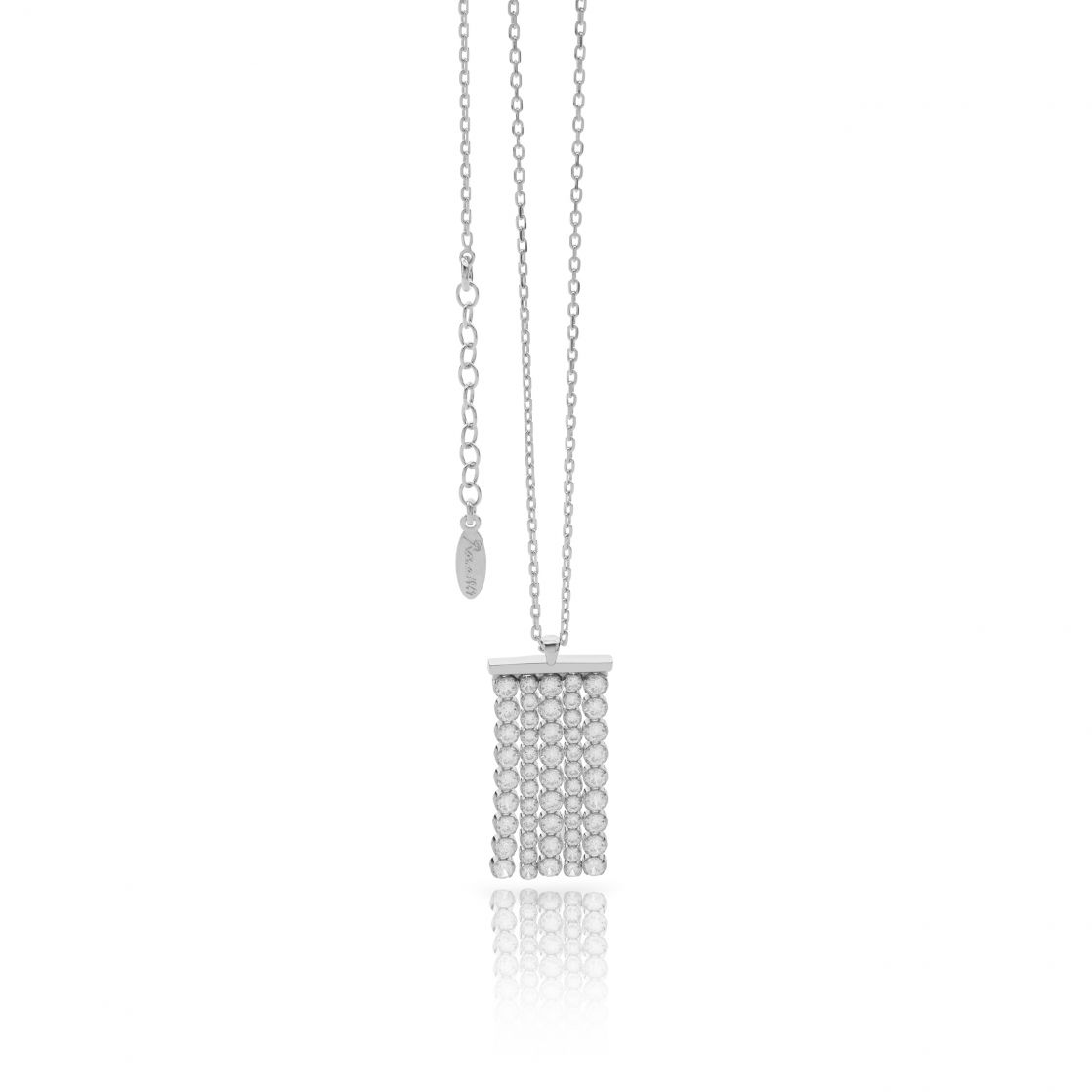 NECKLACE WITH WHITE CZ STRIPS