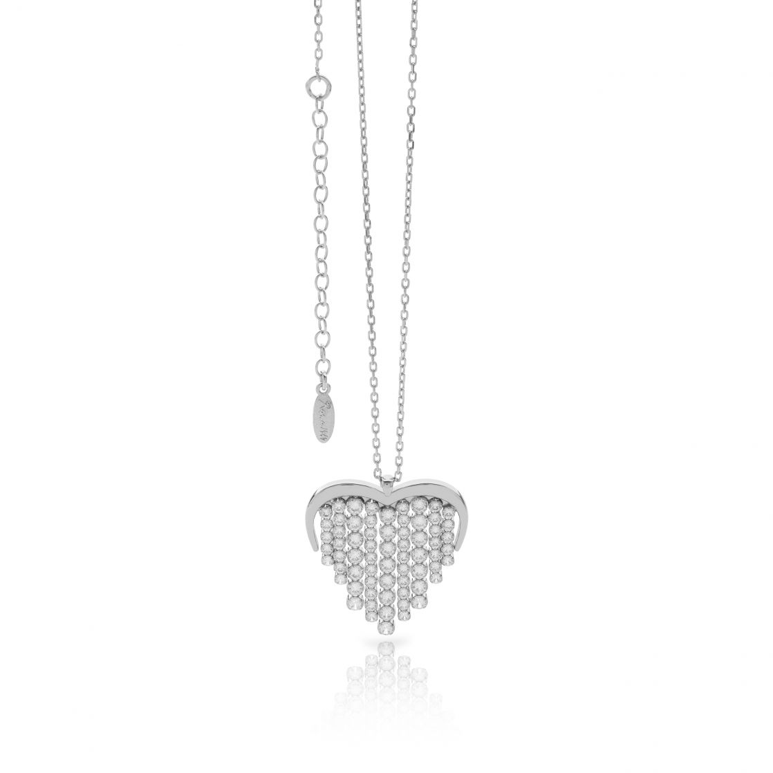 WATERFALL HEART NECKLACE