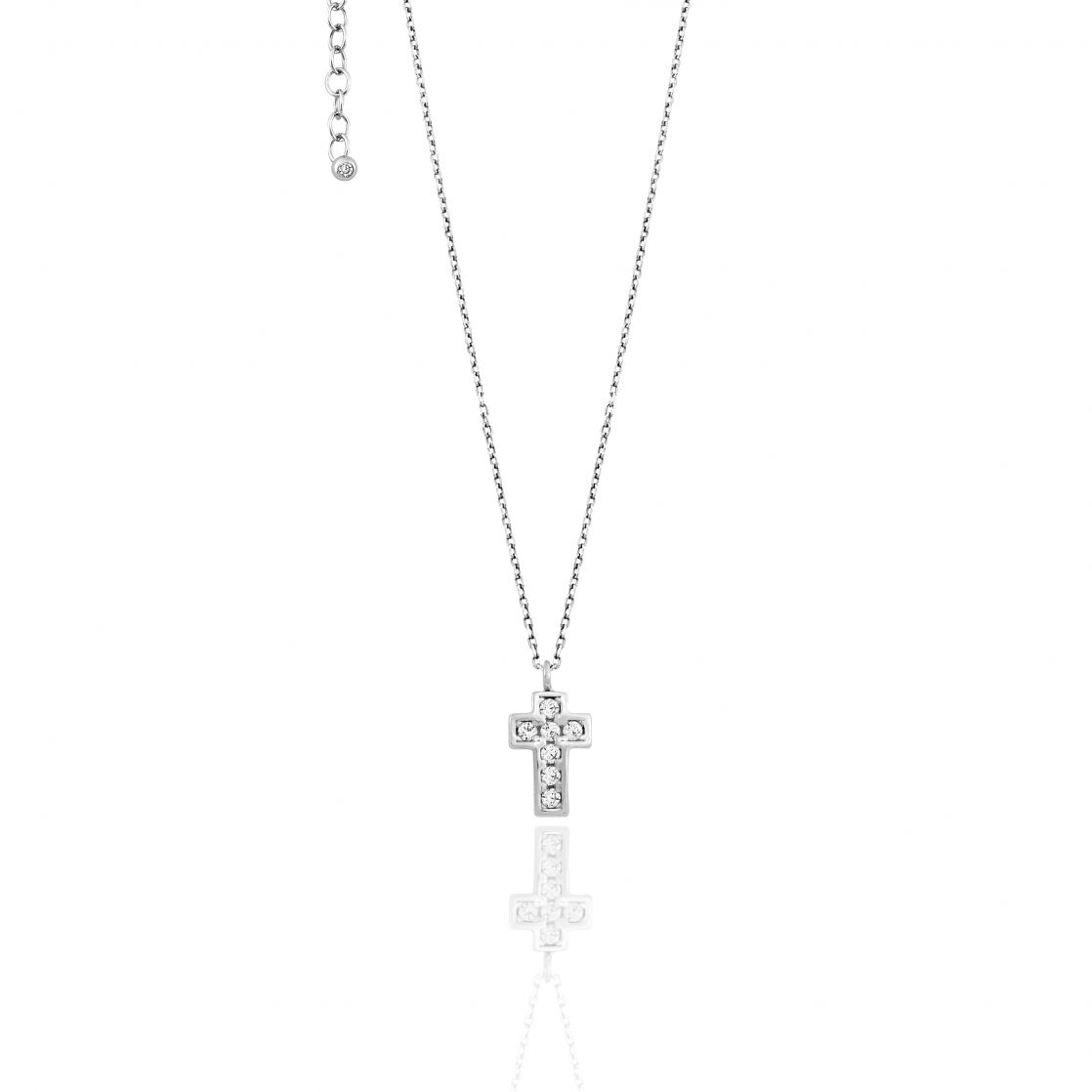 Necklace With Pave' Cross