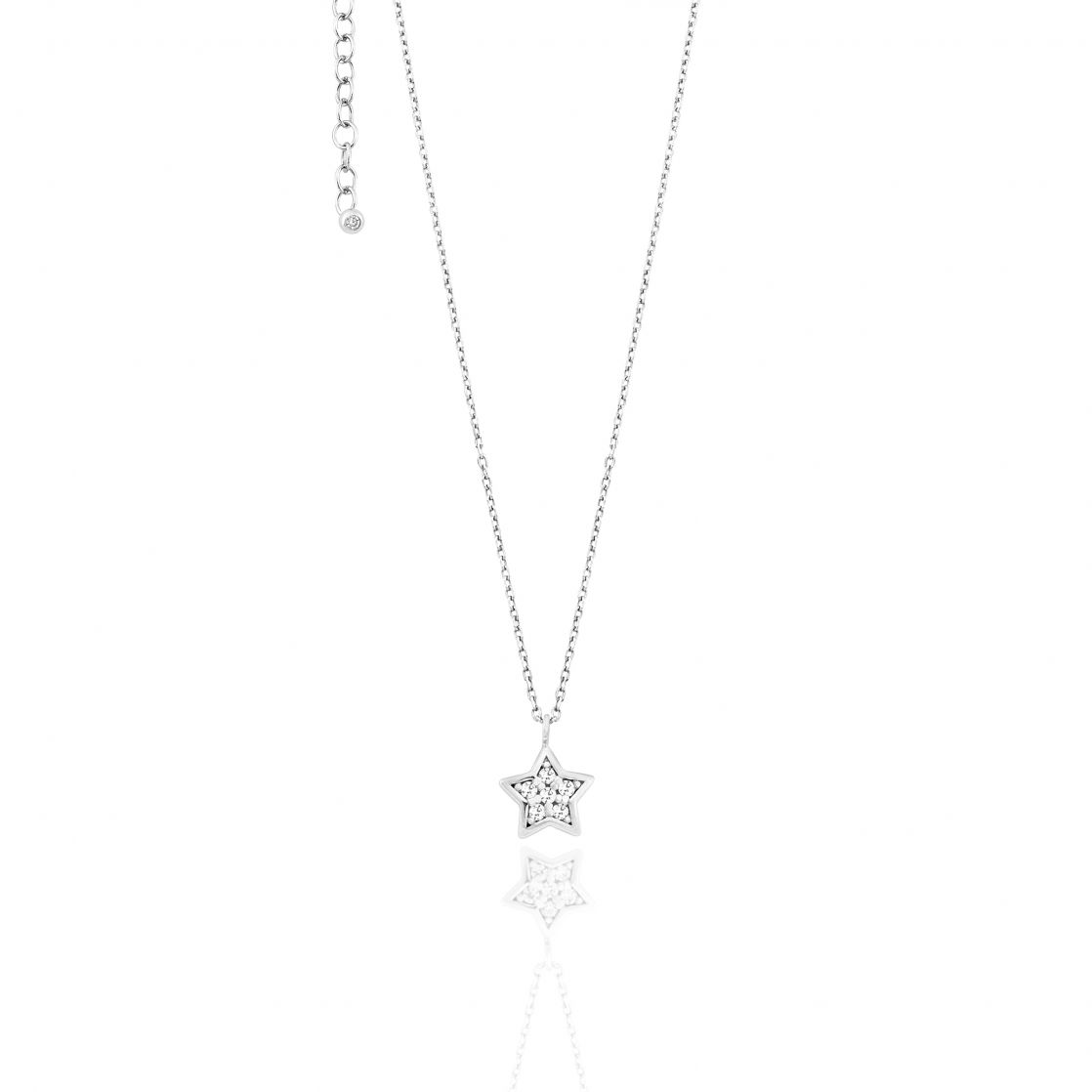 NECKLACE WITH STAR PAVÈ