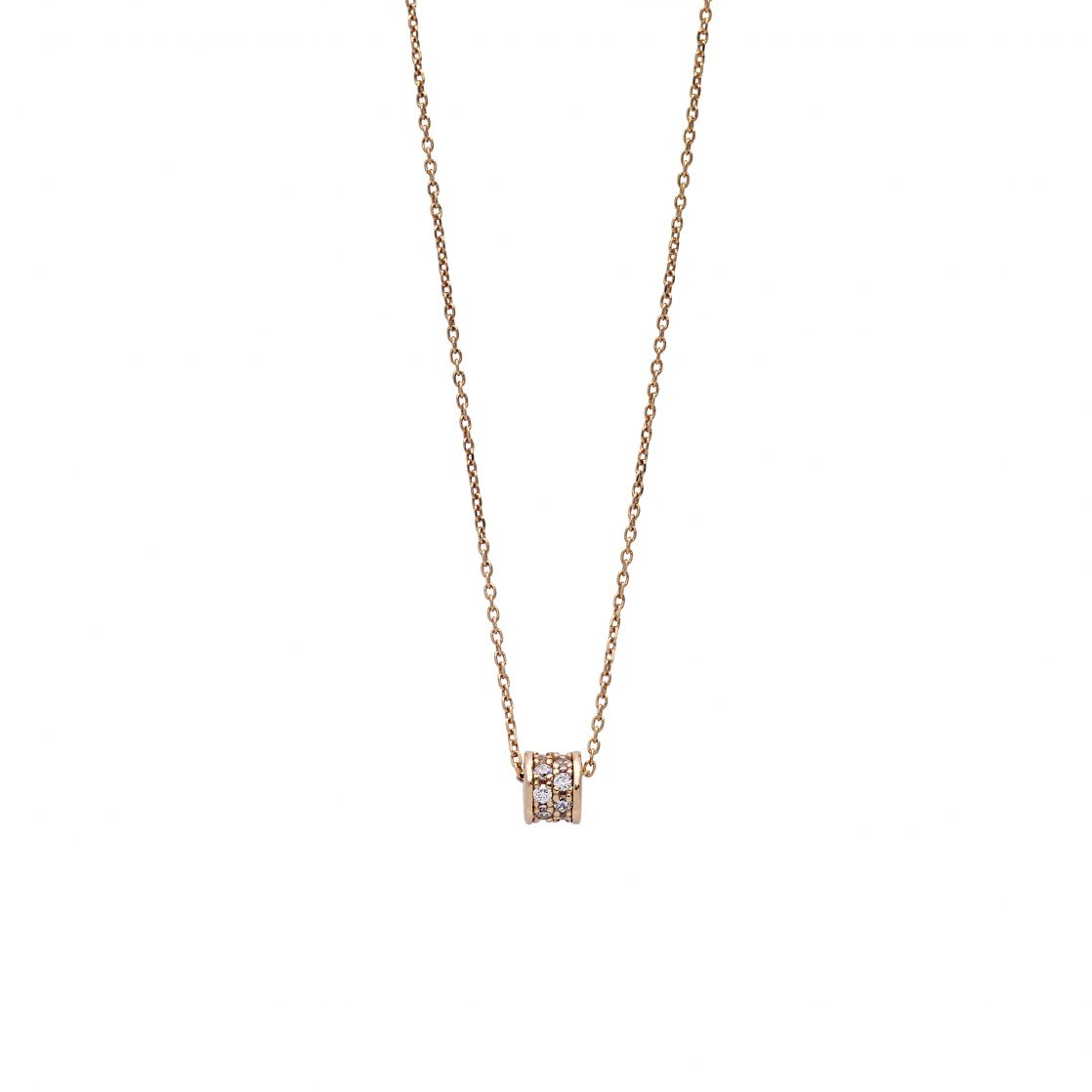 NECKLACE ROSE GOLD PLATED WITH PAVÈ