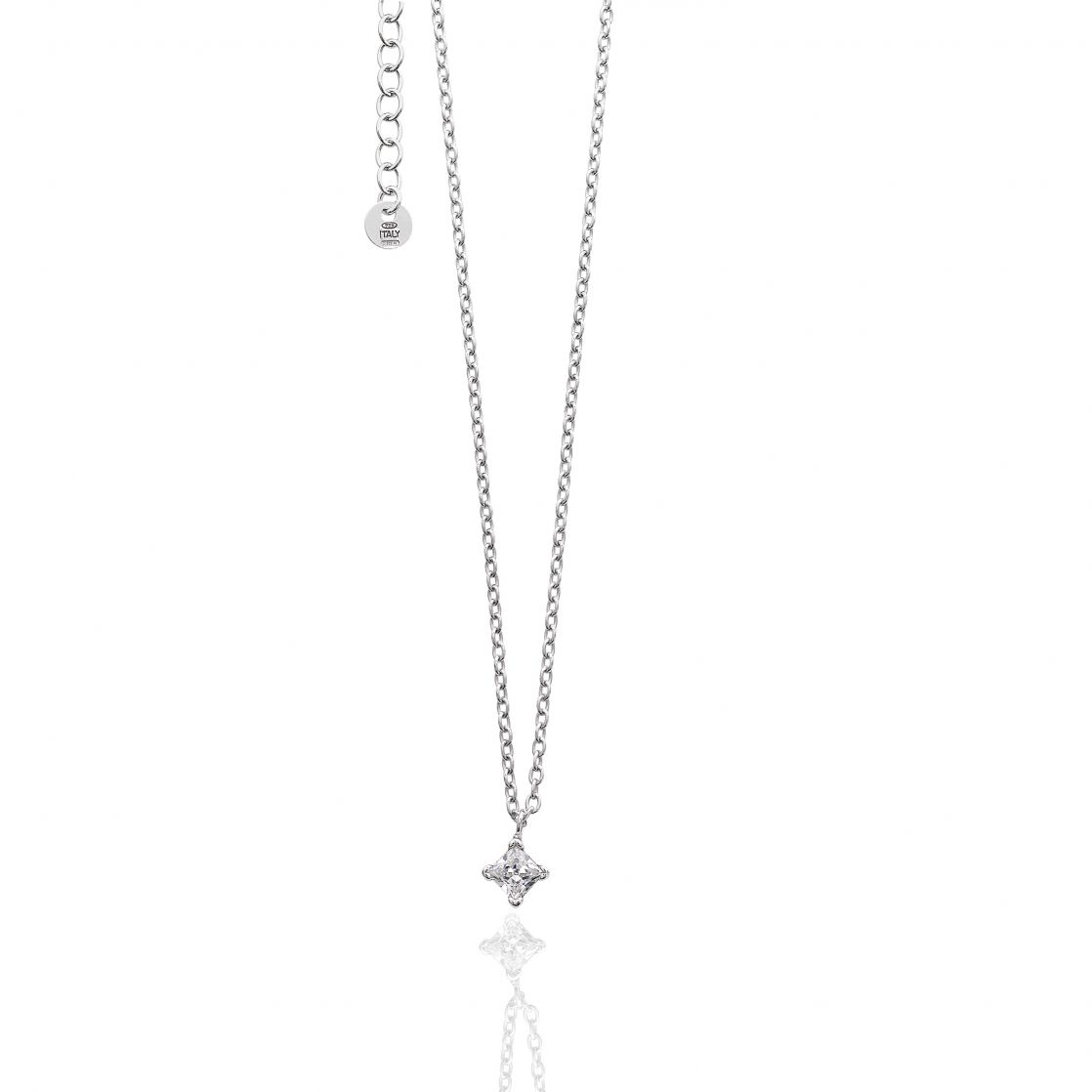 NECKLACE WITH CUBIC ZIRCONIA PENDANT