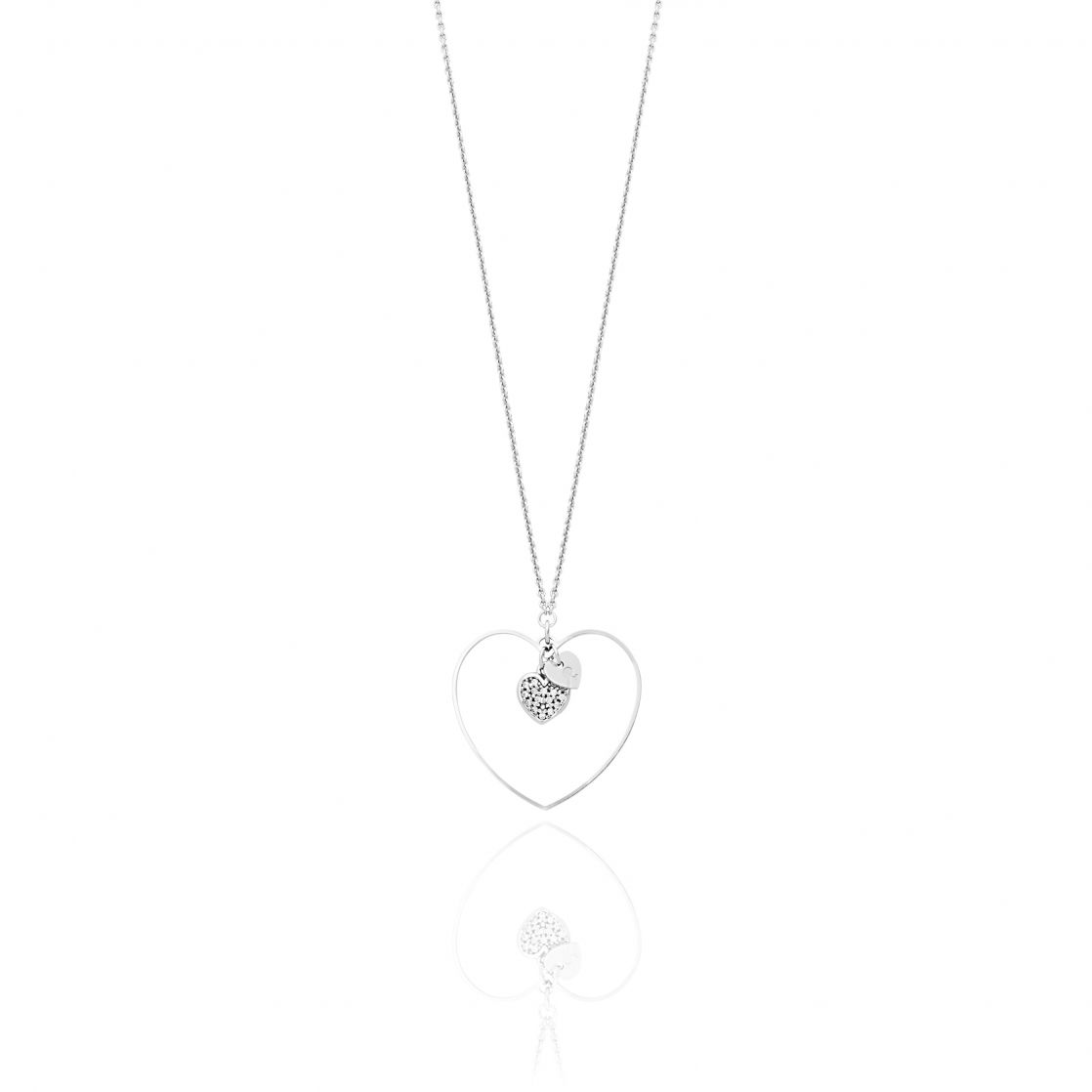 NECKLACE WITH DOUBLE HEART