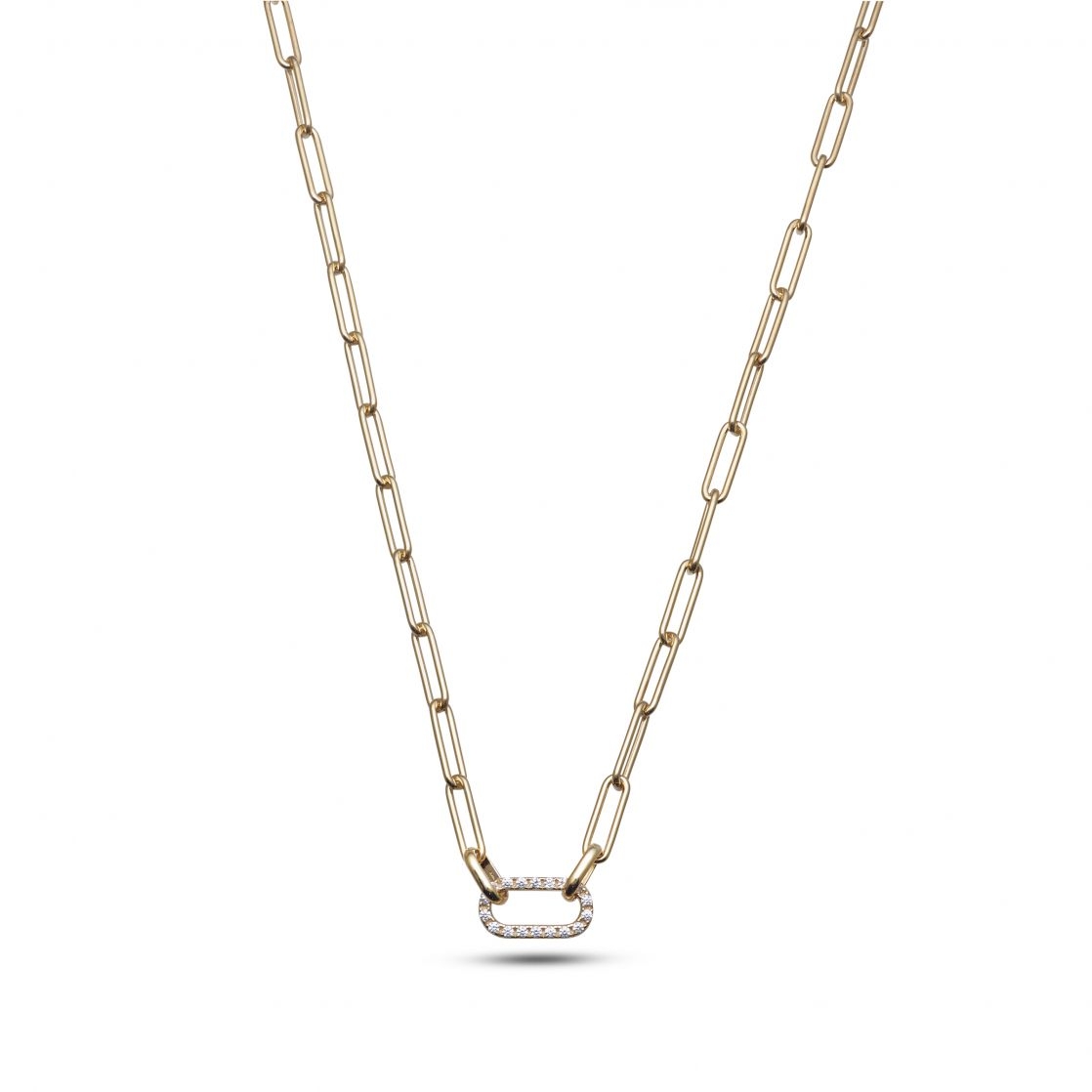 Necklace with pave' link
