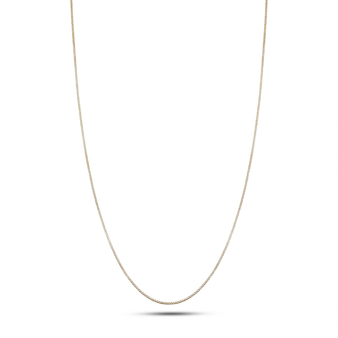 YELLOW BOX CHAIN NECKLACE