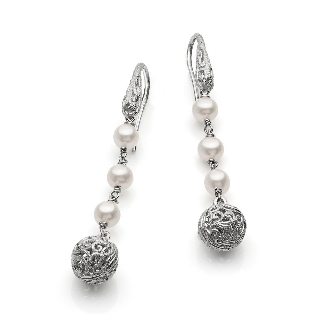 Damas sphere drop earrings