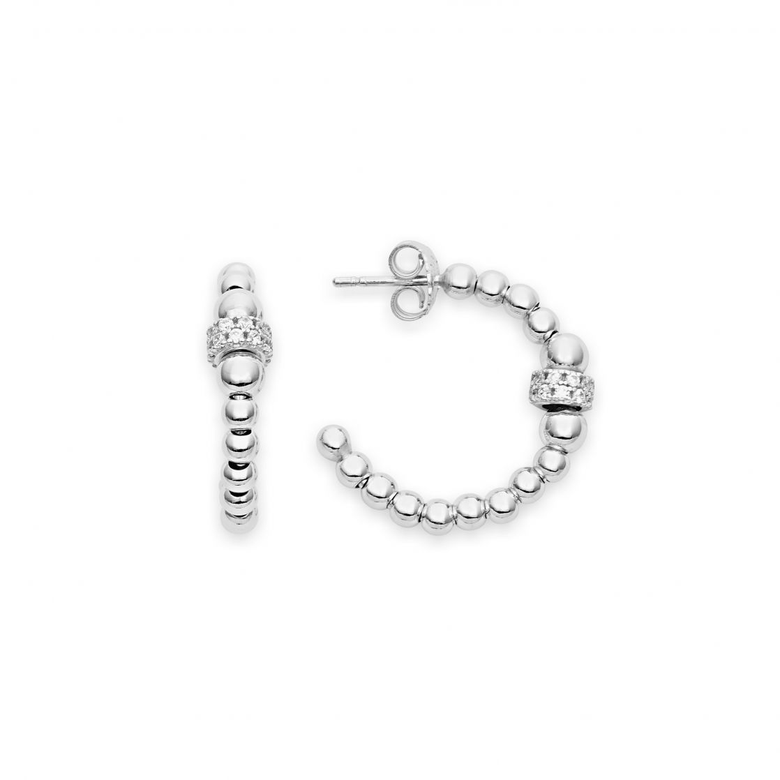 Earrings with beads and pave'