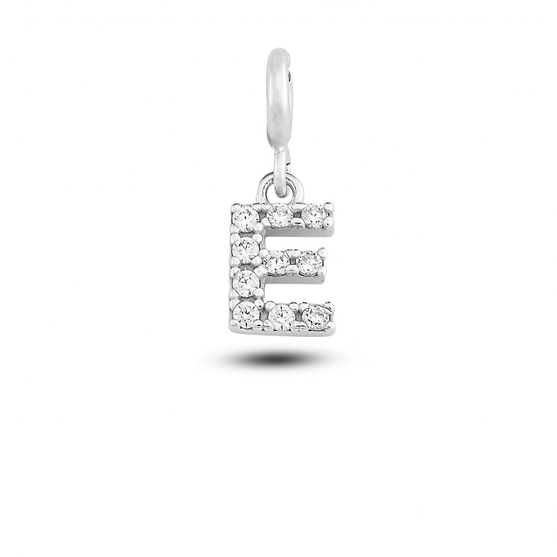 """CHARM LETTER """"E"""" WITH CRYSTALS"""