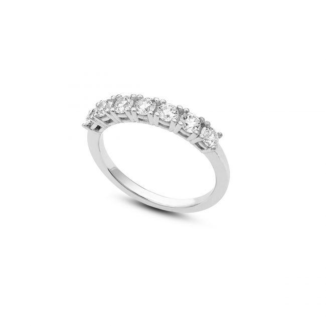Seven stones eternity ring