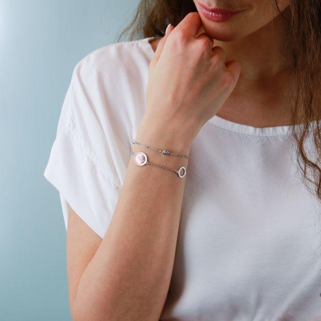Multi row sterling silver bracelet