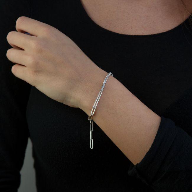 Sterling Silver Sparkling Bracelet