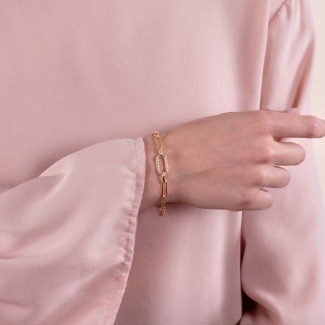 Bracelet With Pave' Chian