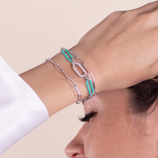Bracelet With Blue Link