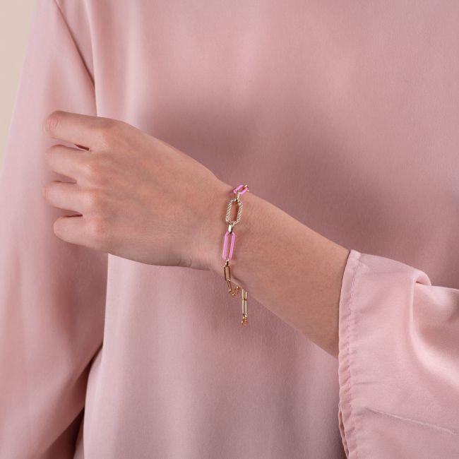 Bracelet With Rose Link