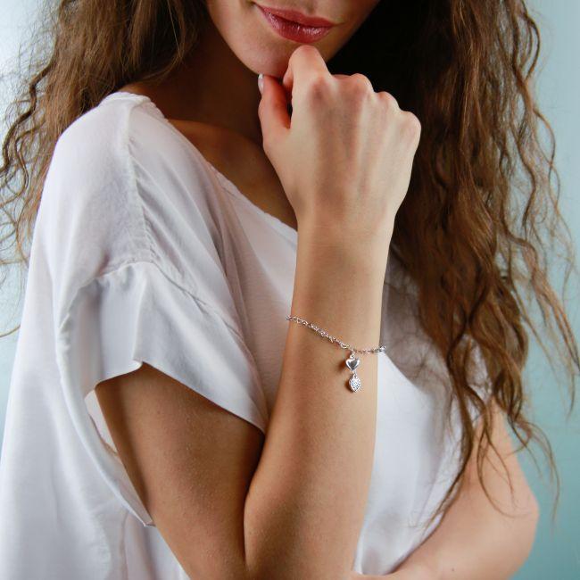 Bracelet With Double Heart