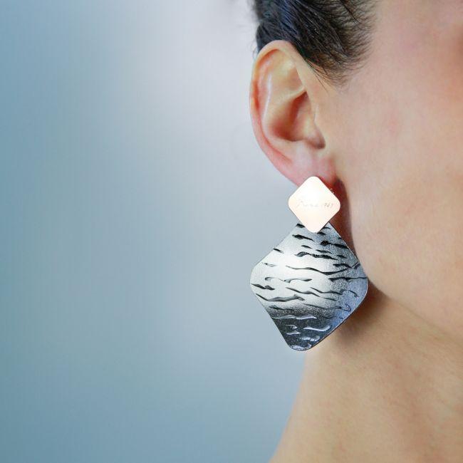 HANDMADE SATIN EARRINGS