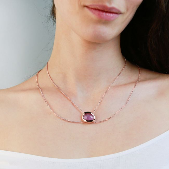 MULTI STRANDS NECKLACE WITH AMETHYST
