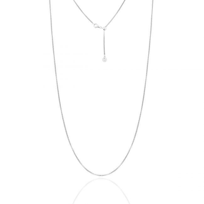 Box Chain Necklace With Sliding