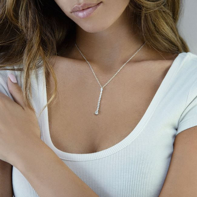 Necklace with cz