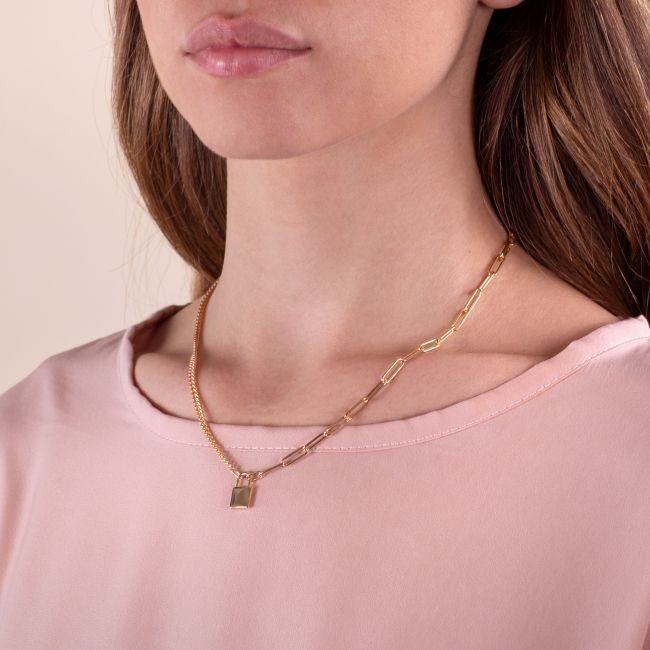 Necklace With Padlock