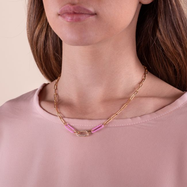 Necklace With Rose Link