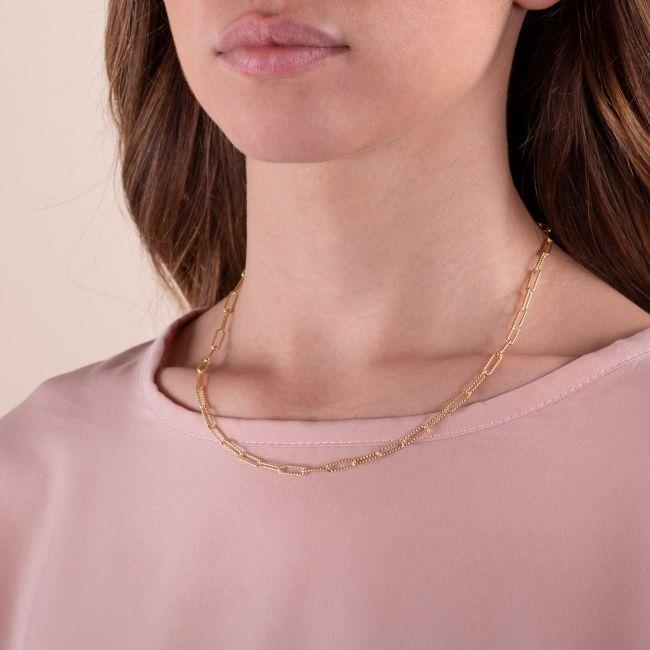 Knurled Bridge Chain Necklace