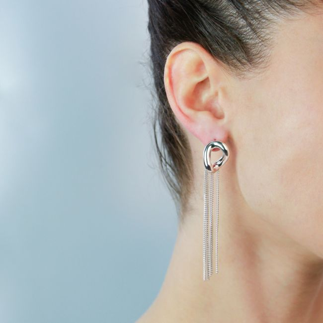 DROP EARRINGS WITH CHAINS