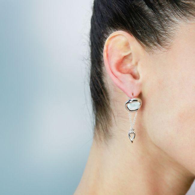 Drop Earrings With Larimar