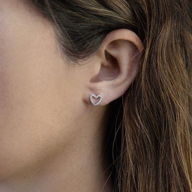 Heart-shaped earrings