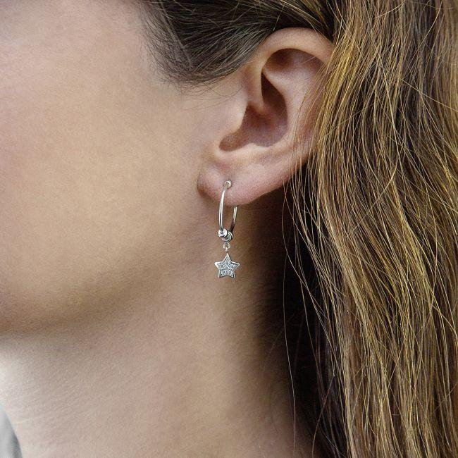 Stars pendant earrings