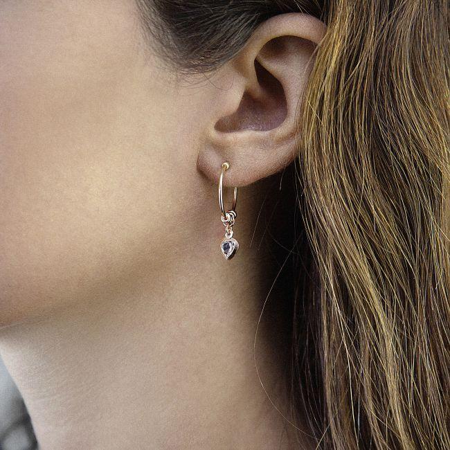 Rose gold earrings with little heart