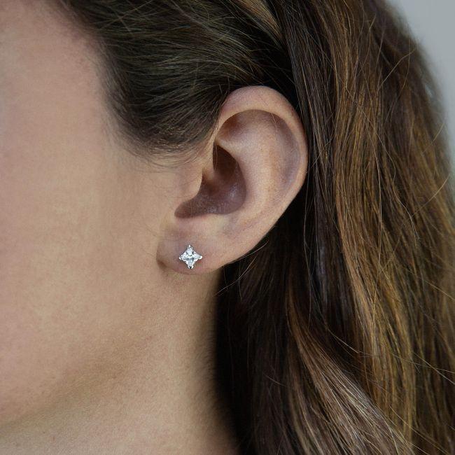 Square  cubic zirconia earrings