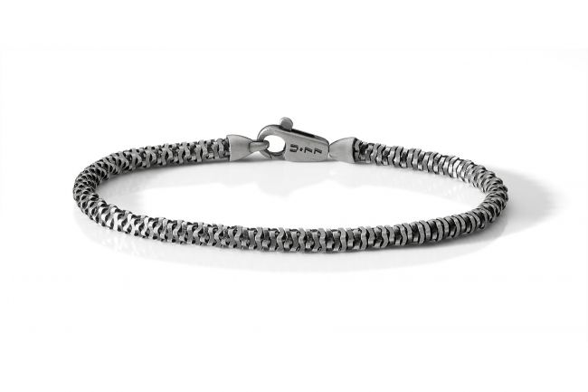 Polished and satin snake bracelet