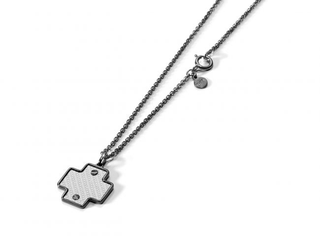 Necklace with greek cross-shaped pendant
