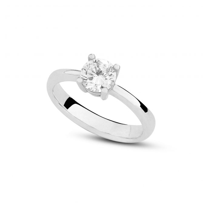 Solitaire ring 6mm