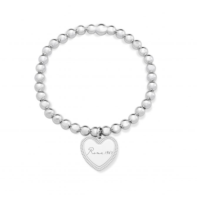Stretch Bracelet With Heart-shaped Pendant