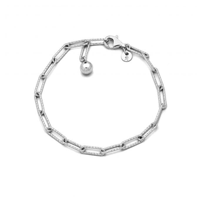 Sterling Silver Diamond Cut Chain Bracelet