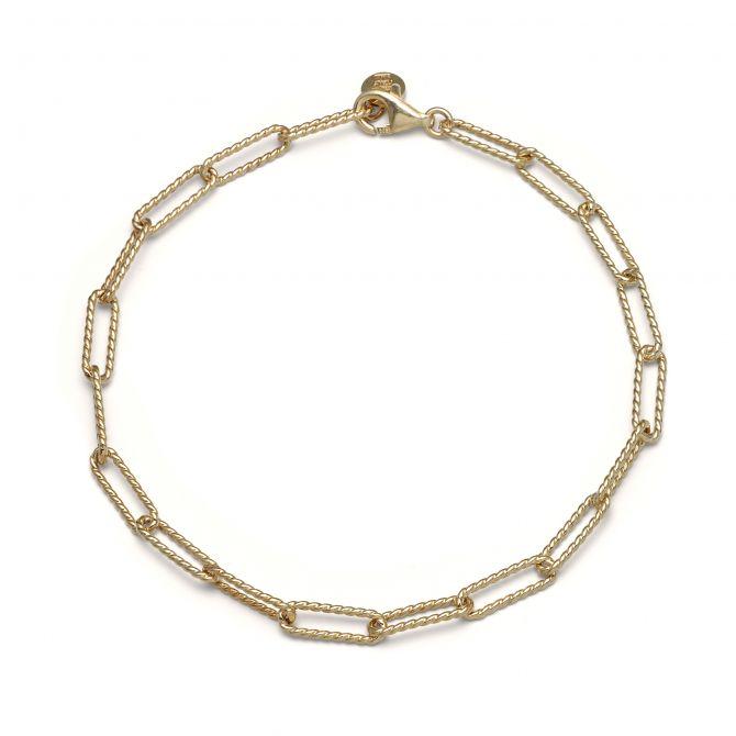 Knurled Chain Bracelet