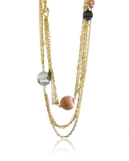 Bronze multi strand necklace
