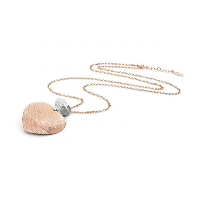 Satin finish heart necklace