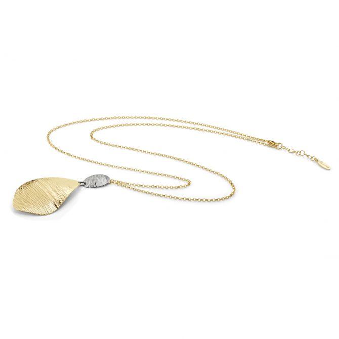 Satin finish drop necklace