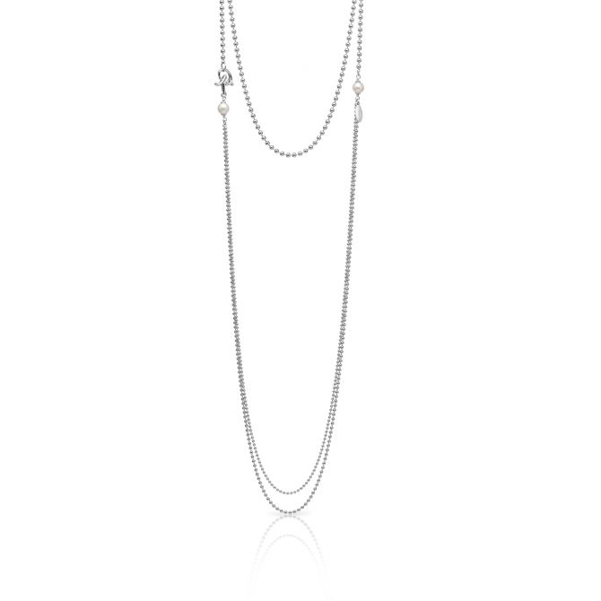 MULTIROW NECKLACE WITH PEARLS