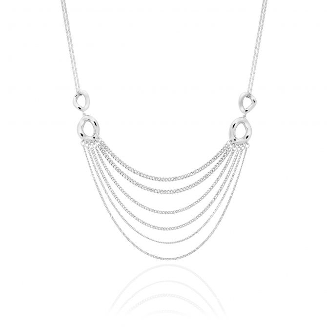 STERLING SILVER MULTIPLE CHAINS