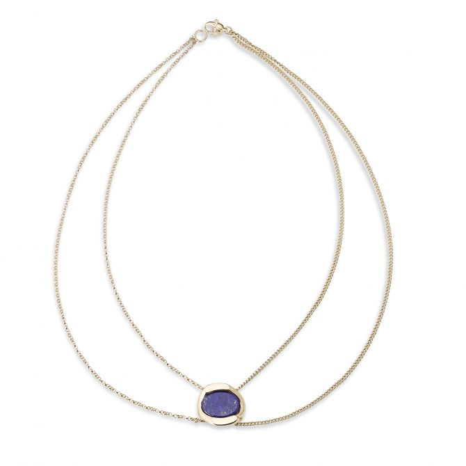 MULTI STRANDS NECKLACE WITH LAPIS