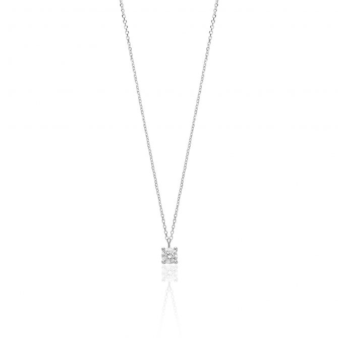 Necklace with cz pendant 4mm