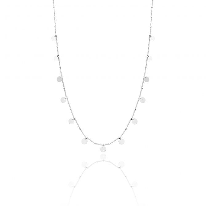 Necklace with small polish circles
