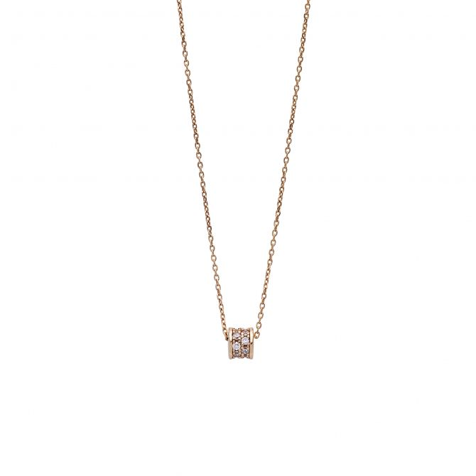 Necklace rose gold plated with pave'